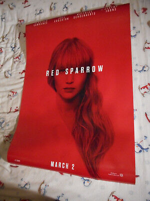"""Jennifer Lawrence RED SPARROW orig movie poster one sheet DS 27""""x40"""" New 2018"""