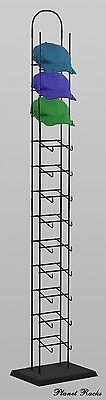 Planet Racks 12-Tier Black Floor CapTower Display Unit