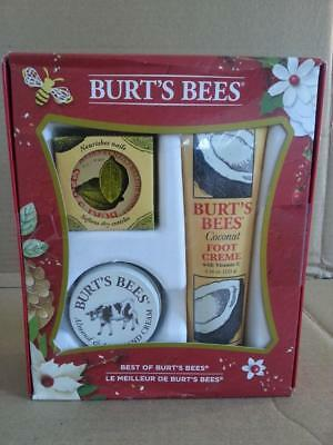 Best of Burt's Bees Set Lemon Cuticle Coconut Foot Almond Milk Hand Cream