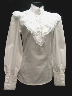 Frontier Classsics White Clara Victorian Style Blouse Clara Frontier S-3XL