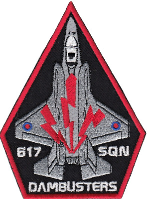 No. 617 Dambusters Squadron RAF Lockheed Martin F-35 Lightning Embroidered Patch