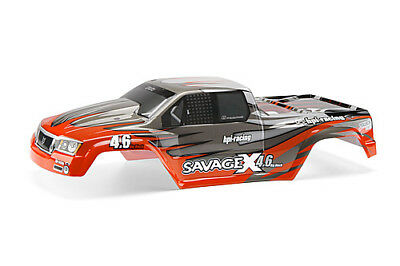 Hpi Racing Savage X Ss 4.6 7786 Nitro Gt-2 Painted Body (Red/gray/silver)