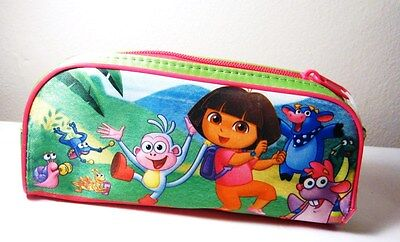 "NICKELODEON'S DORA THE EXPLORER CASE POUCH BAG   w/ 24pc PUZZLE !   8"" X 4"""