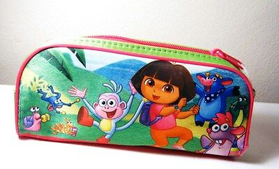 NICKELODEON'S DORA THE EXPLORER COLLECTIBLE PENCIL POUCH CASE w/ 24pc PUZZLE !