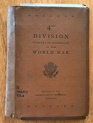 WWI SUMMARY OF OPERATIONS US ARMY, 4th DIVISION  w/ 5 LARGE FOLDING MAPs