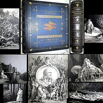 1867 Idylls Of The King Alfred Tennyson 1St Edition Gustave Dore Ill King Arthur