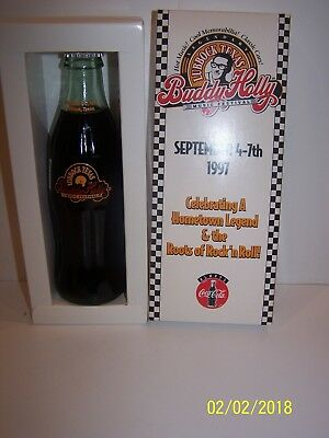 Buddy Holly Coca Cola Bottle In Box - Lubbock Texas