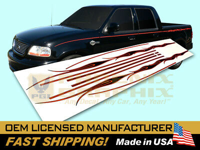 2002 Ford F-150 Harley Davidson Edition Truck Flames Decals Stripes Graphics Kit