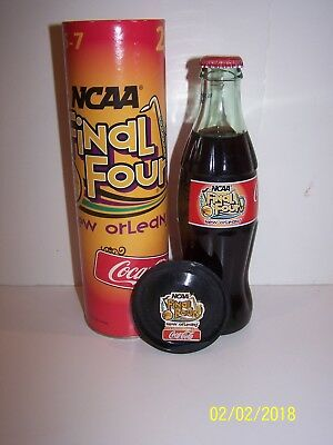 Final Four New Orleans 2003 Coca Cola Bottle In Tube W/pin