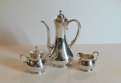 #2485 Repousse by W J Braitsch Sterling Silver Demitasse Set 3pc
