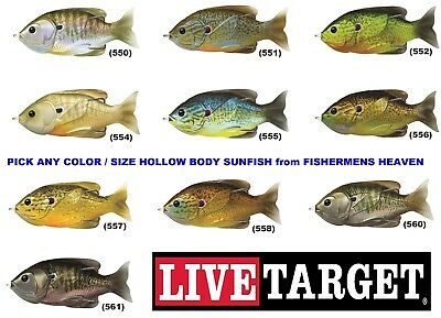 """New Live Target SHAD Hollow Body commotion 3 1//2/"""" silver flake SCH90T155"""
