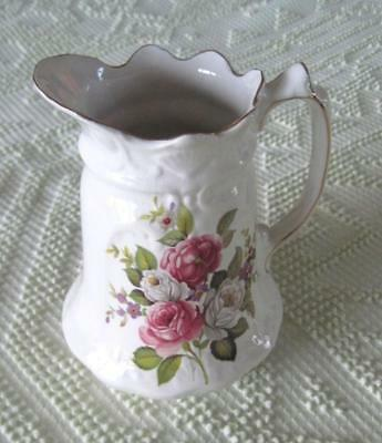 """James Kent Old Foley Harmony Rose 7.25"""" Pitcher Made in England"""