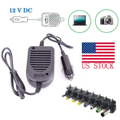 80W Universal Car Charger Power Supply Adapter For Laptop SONY HP IBM Dell US