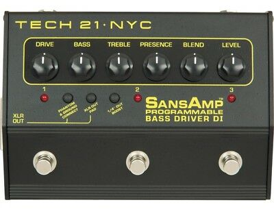 Tech 21 Bass Driver DI Programmable - SansAmp
