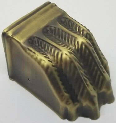 LARGE ANTIQUE BRASS stamped Claw foot toe leg cap piano stool table chair old