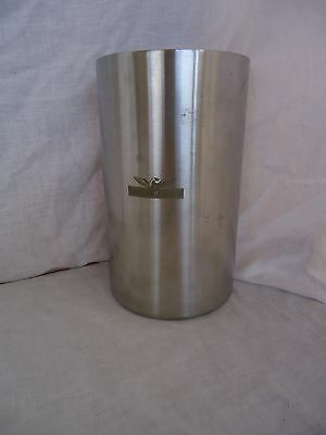 WOLF BLASS BAR Wine Cooler Ice Bucket Stainless Steel SILVER RARE RARE Shiny
