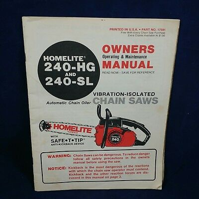 1960s vintage homelite chainsaw owners manual 6 99 picclick rh picclick com homelite electric chainsaw owners manual homelite super 2 chainsaw owners manual