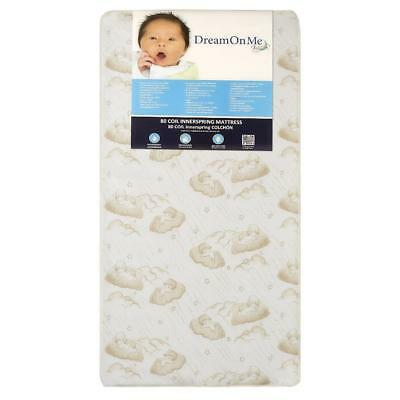 New Dream On Me Twilight 5 inch 80 Coil Spring Crib and Toddler Mattress
