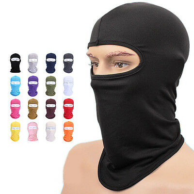 Cycling lycra Balaclava Full Face Mask Outdoor Ski Ultra-thin Neck Protecting SP