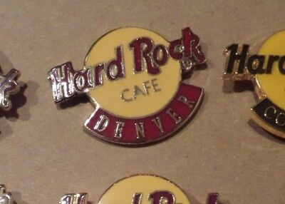 Hard Rock Cafe Pin   Classic Logo Brown and Yellow  Denver