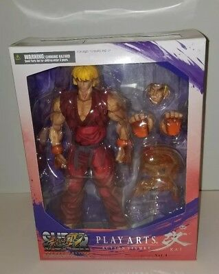 Street Fighter IV Play Arts Kai KEN Action Figure Square-Enix HUGE! NOT CHINESE!