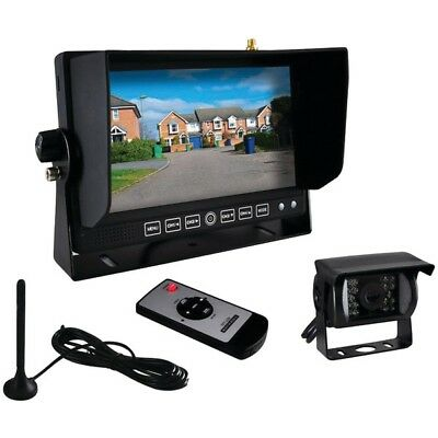 "Wireless Weatherproof Backup Camera & 7"" Monitor for Bus,Truck, Trailer Van"