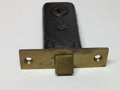 Antique Vintage Cast Rion Brass Privacy Door Mortise Lock Bathroom Part