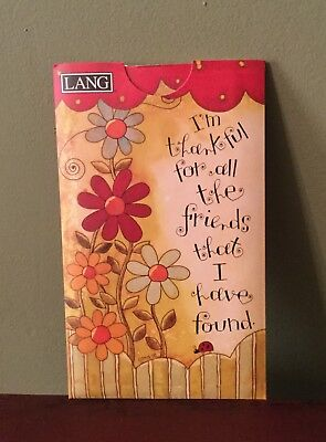 """LANG Friends Pocket Address Book Names Cell Phone Email NEW """"I'm Thankful"""""""