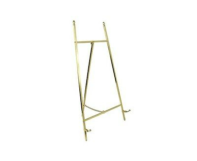 Contemporary Display Easel - Polished Brass Finish 455mm Tall - High Quality