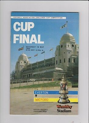 1984 F.A.Cup Final.Everton v Watford.