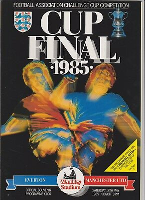 1985 F.A.Cup Final.Everton v Manchester United.