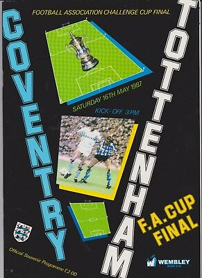 1987 F.A.Cup Final.Coventry City v Tottenham Hotspur.