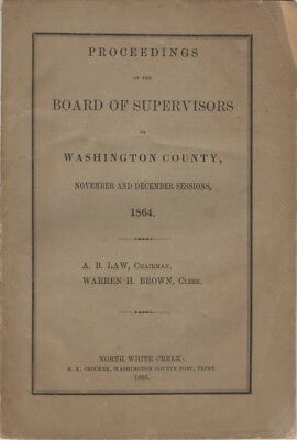 Proceedings of The Board Of Supervisors Of Washington County, Nov and Dec 1864,
