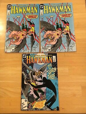 HAWKMAN #1 and #2  BRONZE AGE DC COMIC - 1986 Two copies of number !