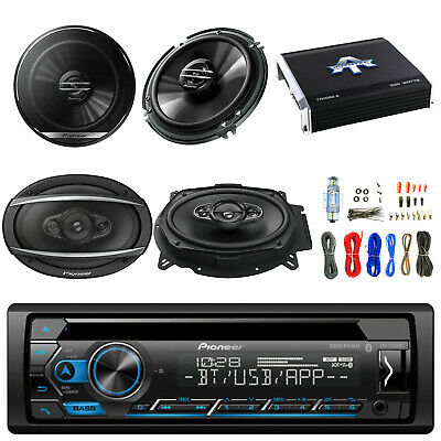 "Pioneer CD Player w/6.5"" Speakers, 6""x9"" Speaker, 1000W 4 Chan Amp, Amp Kit"