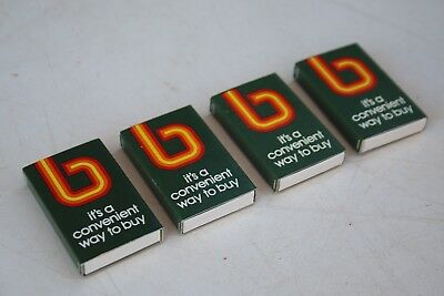 4 x Rare Unused Vintage Bankcard Promotional Match Boxes - Excellent Condition