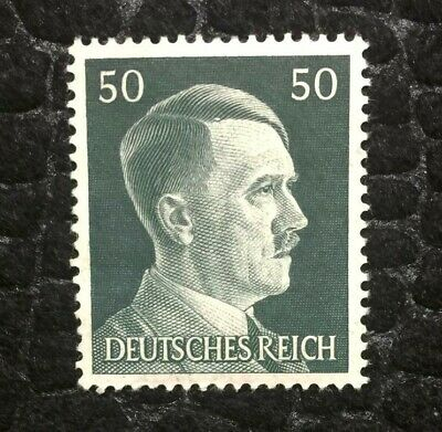 Rare Old Antique Authentic WWII German Unused Stamp - 50 Rp