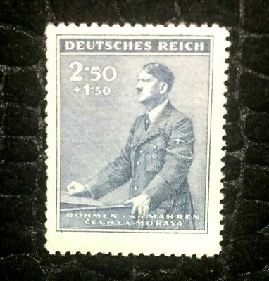 Rare Old Antique Authentic WWII German Unused Stamp  - 2.50 Rp