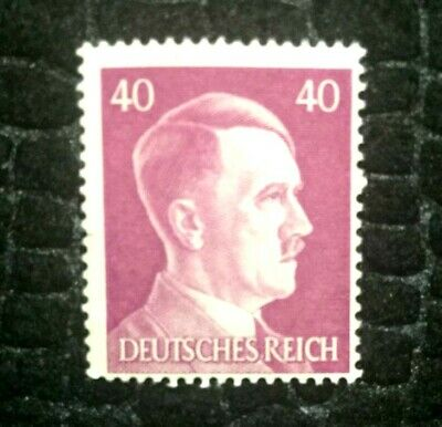 Rare Old Antique Authentic WWII German Unused Stamp - 40Rp