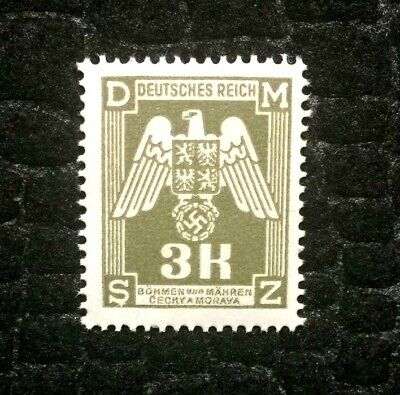 Rare Old Antique Authentic WWII Eagle German Unused Stamp - 3K