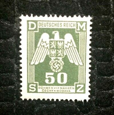 Rare Old Antique Authentic WWII German Eagle Unused Stamp - 50K