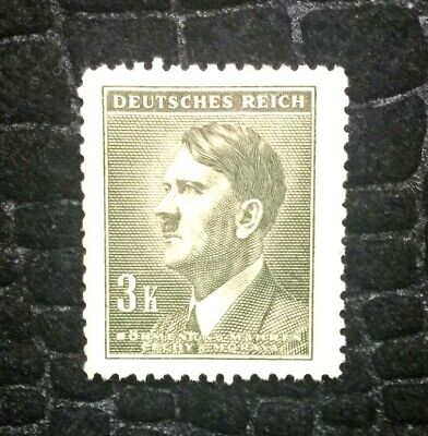 Rare Old Antique Authentic WWII Unused German Stamp - 3k