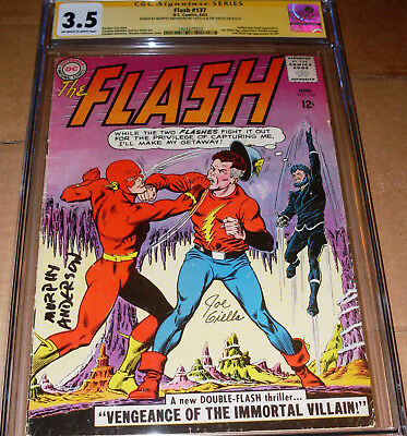 Flash #137 CGC SS SIGNED Murphy Anderson Joe Giella DC 1963 1st SA Vandal Savage