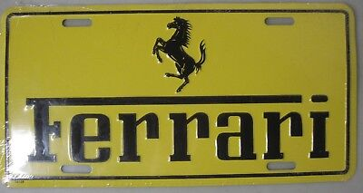 Unused Factory Sealed Ferrari Logo License Plate