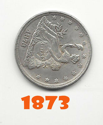 Special 1873 Novelty Reprodution of Seated Liberty on Globe Dollar