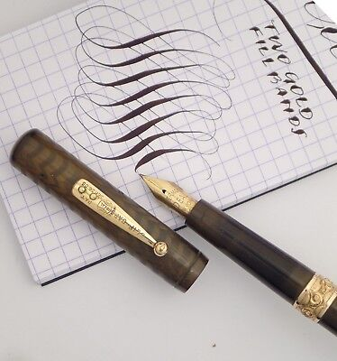 waterman 16 eyedrop fill fountain pen c1910s 2 bands big