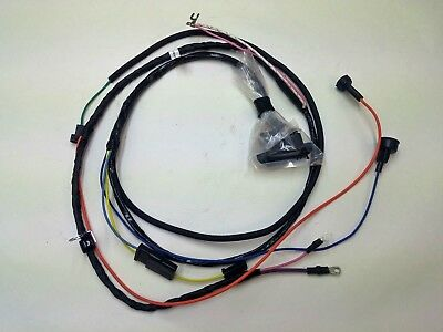 1966 66 chevelle el camino engine starter wiring harness warning lights 396