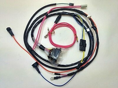 1966 66 chevelle el camino engine starter wiring harness warning lights 396  hei