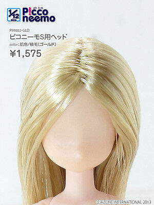 Azone 1/12 Picco Neemo S/M Size Unpainted Head Normal Skin Gold Hair