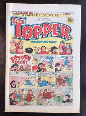 The Topper Comic 2 July 1983. No.1587 Unread/unsold Newsagents Stock Nr Mint (1